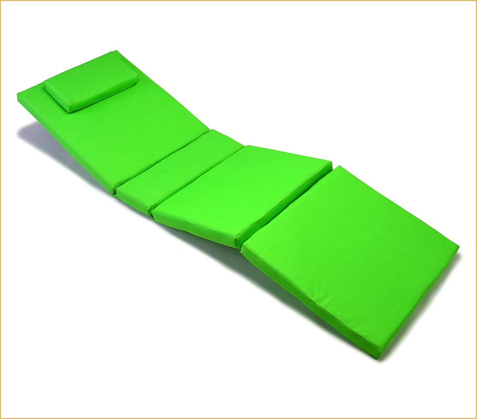 Auflage hellgrün für Sonnenliege