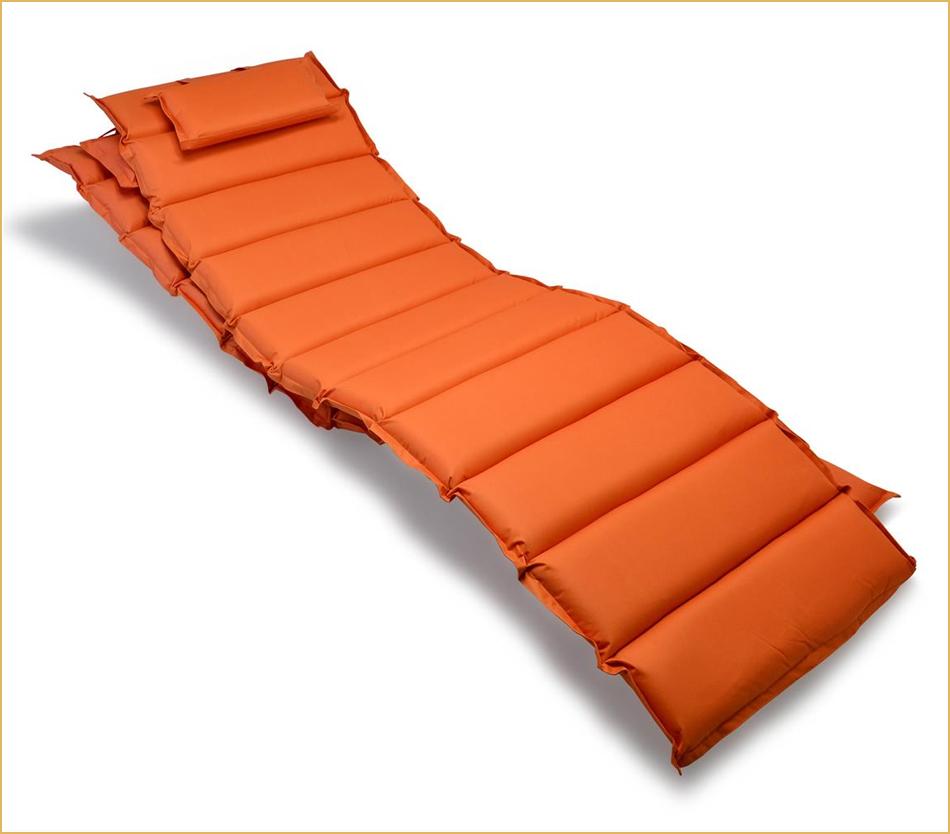 2er Set Liegenauflagen orange
