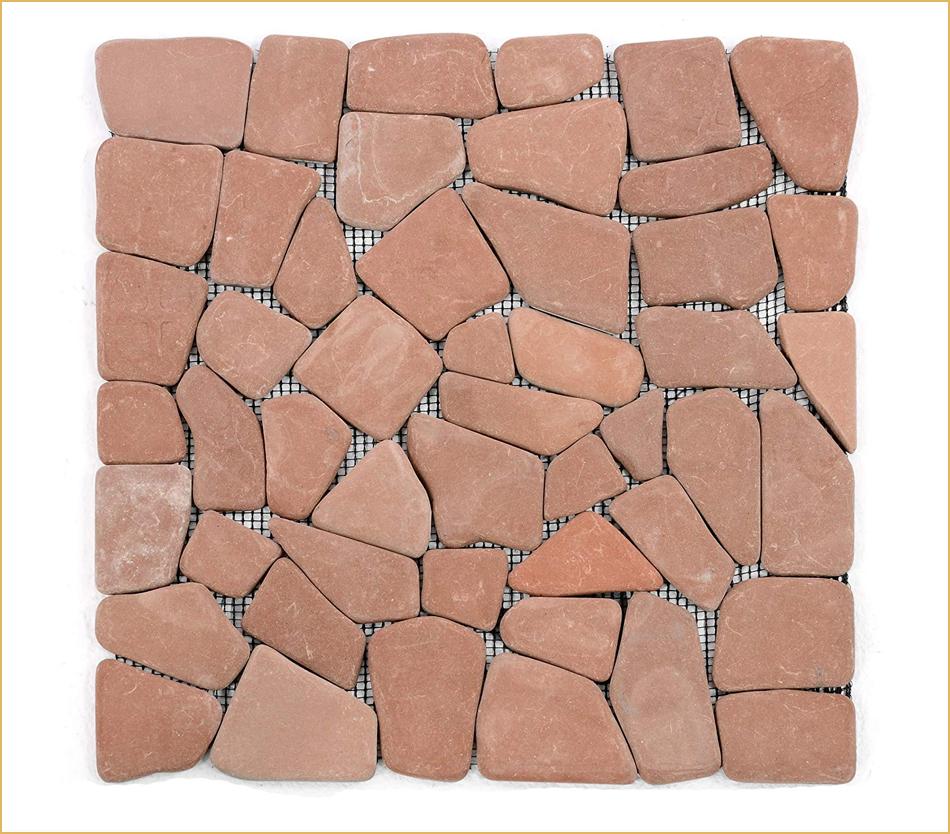 Terracotta Bruchsteinmosaik