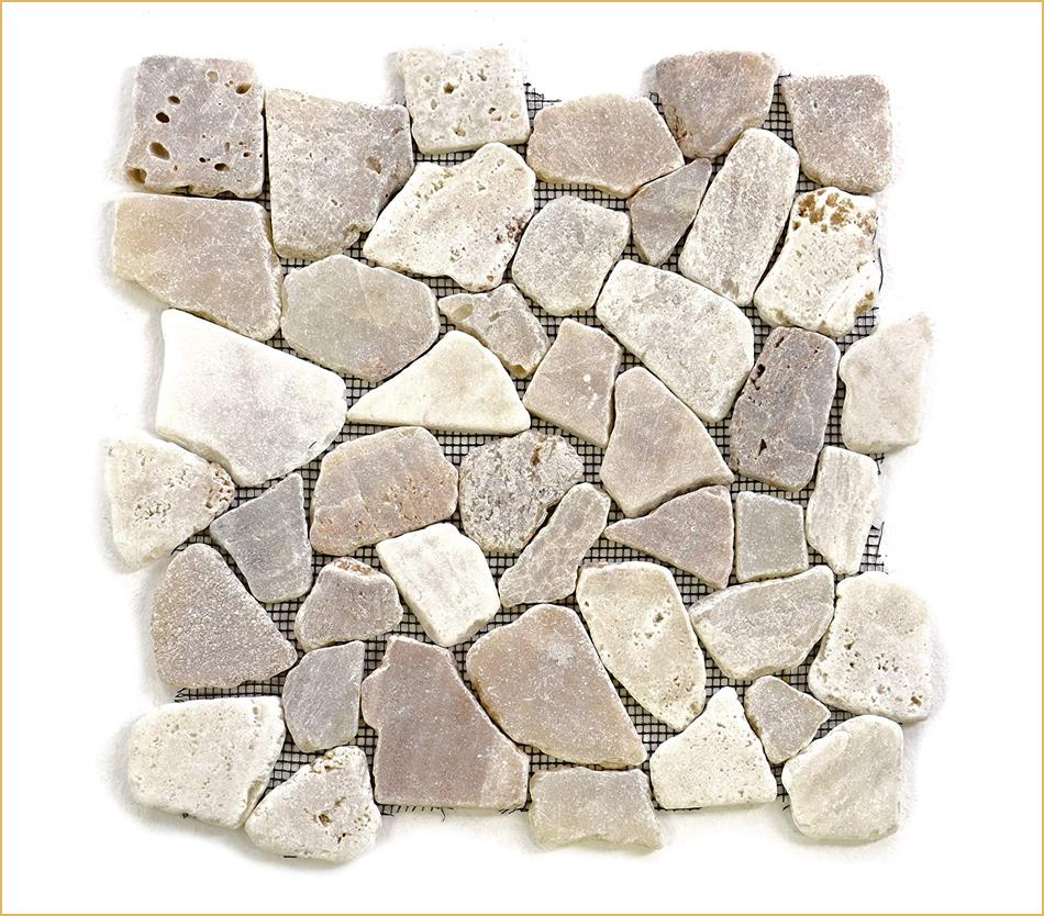 Bruchstein aus Marmor, Flusskiesel oder Travertin