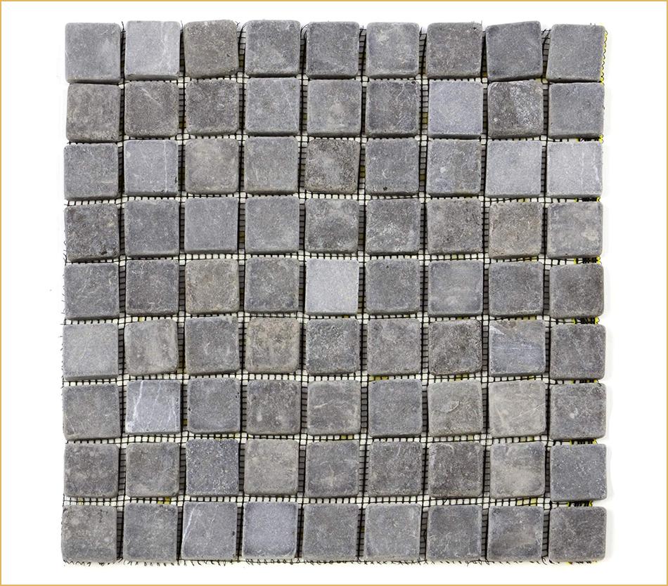 Marmormosaik-Matte grau
