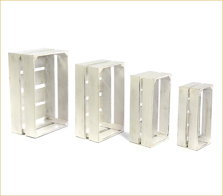 Weiße Deko-Kisten zur Aufbewahrung