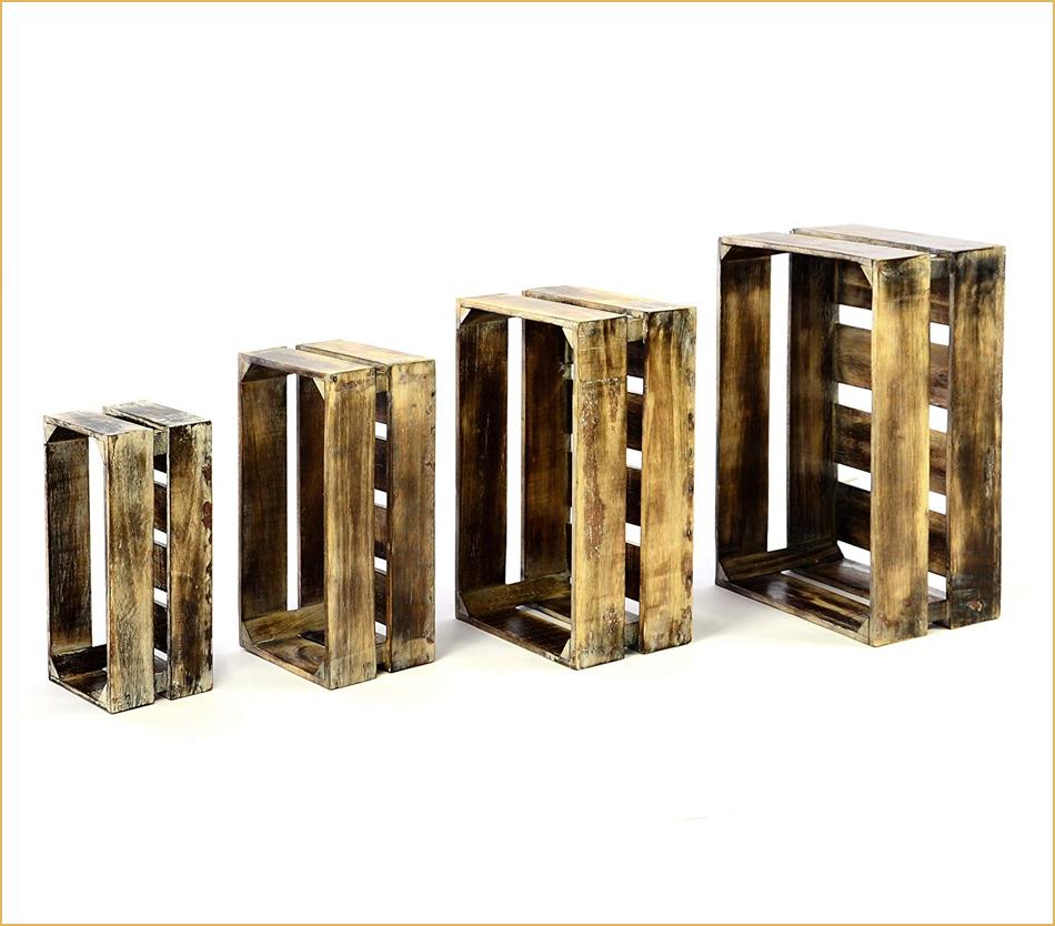 Obststiegen und Stapelboxen aus Holz