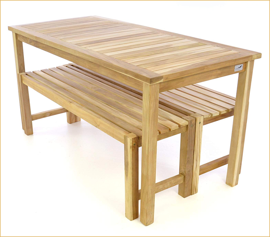 Picknick-Garnitur aus Teakholz