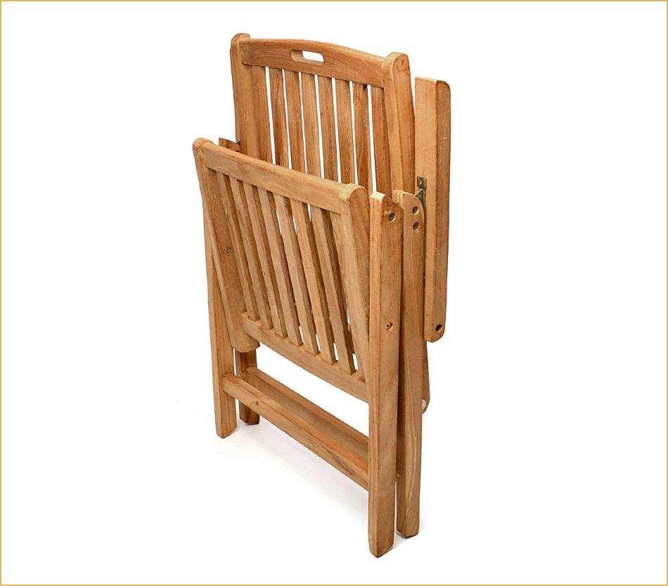 Gartenklappstühle aus Teak