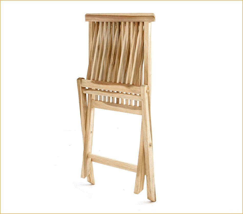 Klappbare Stuhl aus Teakholz