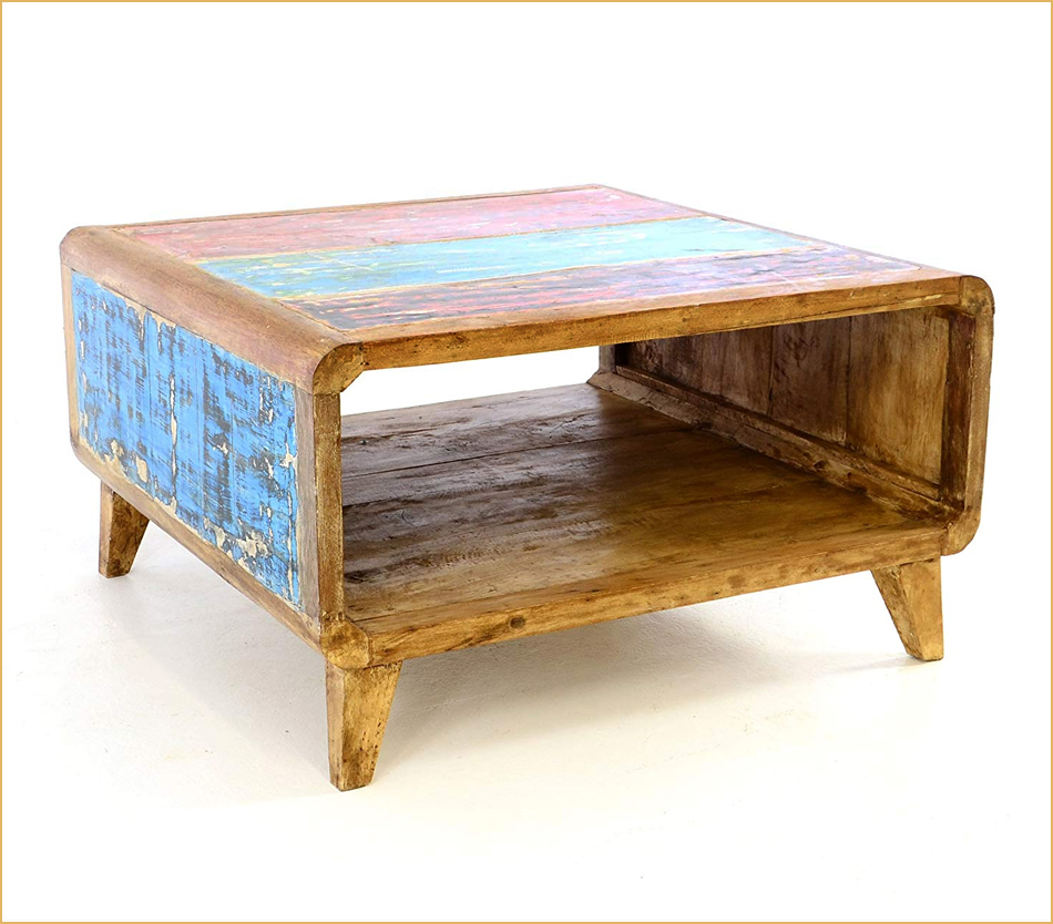 Möbel aus recyceltem Bootsholz