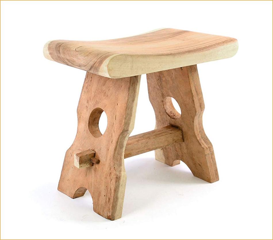 Landhaus-Hocker aus Holz